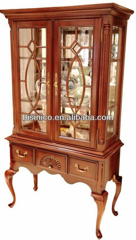 reine anne s rie meubles de salon porcelaine vitrine verre vitrine style rococo anglais. Black Bedroom Furniture Sets. Home Design Ideas