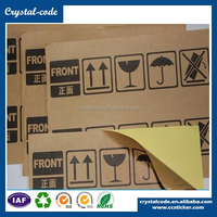 Wholesale semi glossy paper non matt custom shaped extra strong self adhesive kraft paper sticker