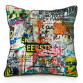 Irregular and Casual Clutter pattern customizable printed cushion cover