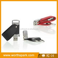 OEM leather case usb flash drive for wholesale