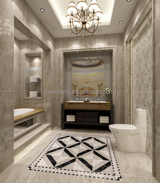 Water resistant bathroom ceramic tiles