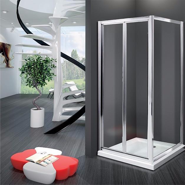 glass corner entry shower cubicle square sliding shower room