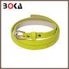 Professional eco-friendly thin pu leather belt for women/ lady