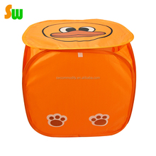 190T Polyester baby animal shape laundry toy hamper with custom printing