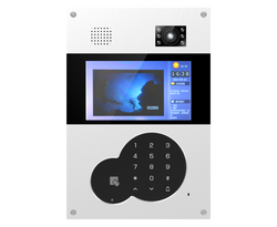 JADE hot sale apartment TCP/IP RJ45 digital video door phone intercom with ID card and 7 inch color screen