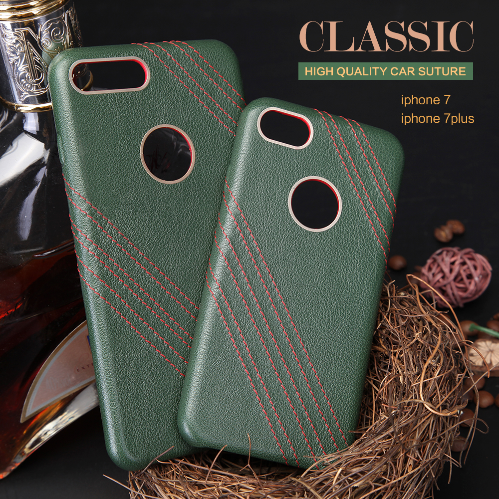 2017 new products genuine leather smartphone cases for iPhone 7 case super slim mobile accessories