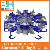 Fully automatic textile printer flat bed printer printing t shirt machine
