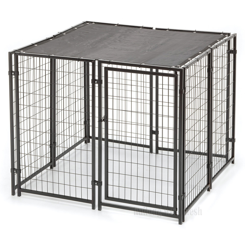 4 Panels Metal Exercise Dog kennel Playpen with Door Huilong factory direct