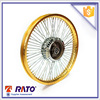 golden motorcycle alloy wheel rim with spoke