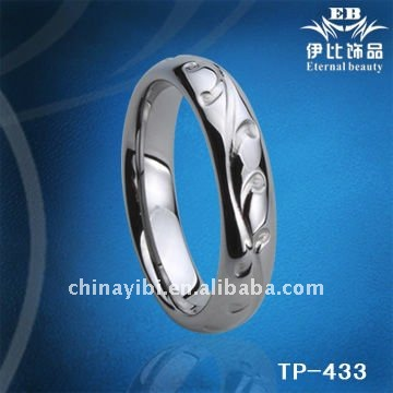 6mm Sulpture Radium Carved Tungsten Ring wedding rings Engraving man's paypal
