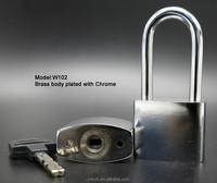 MOK locks W205 containers , trucks used chrome plated brass padlock heavy duty