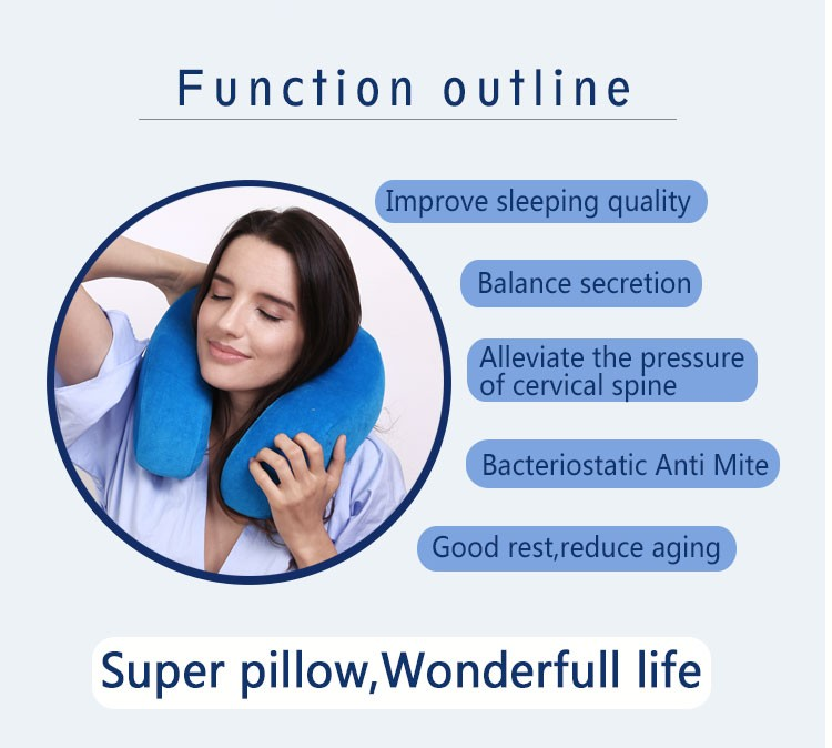Neck and shoulder support sleeping foam filling U-shaped travel hoodie pillow