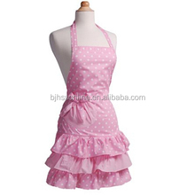 100% cotton cute retro ruffled lovely vintage lady kitchen aprons