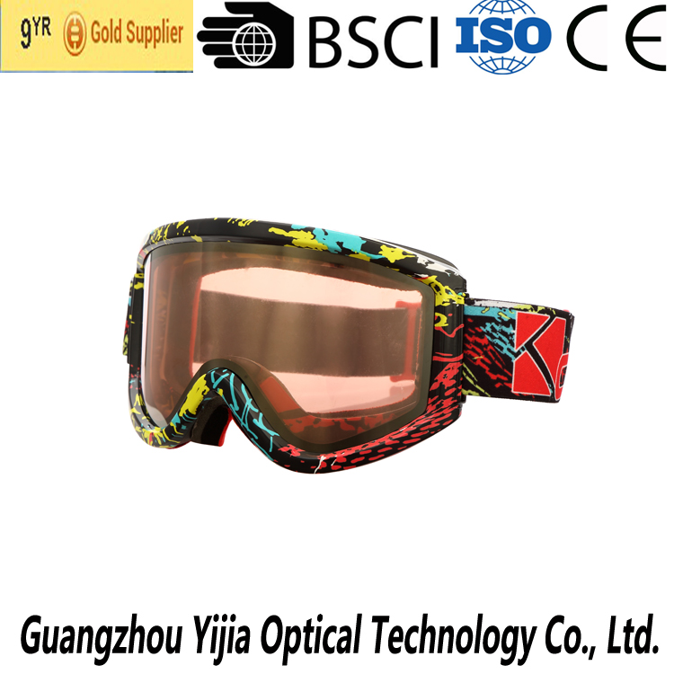 colorful ski goggle for unisex,interchangeable lens snow goggle
