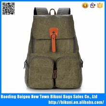 2015 Wholesale New style fashion retro canvas soft backpack / rucksack