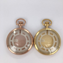 polished smart pocket watch with stainless steel chain