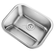 Inox Deep Sink For Laundry With Washboard Design Inside