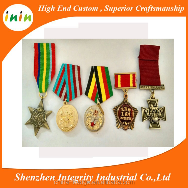 Promotion wholesale 3d custom logo blank league sports medal / award metal medal with ribbon