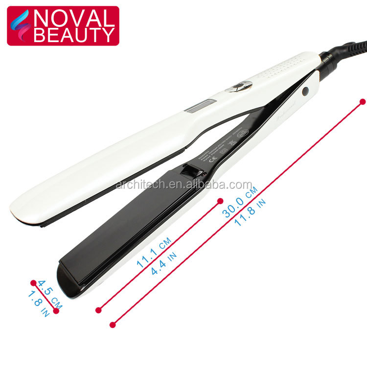 New Products 2018 Private Label 2 Inch Wide Ceramic Hair Straightening Flat Iron