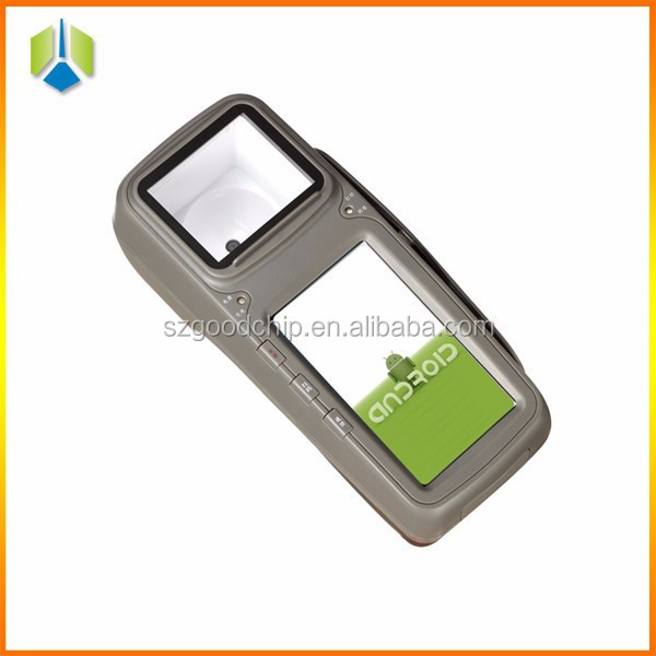 Android handheld pos terminal with QR barcode scanner thermal printer GPRS WIFI mifare RFID reader