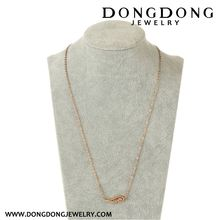 High end unique design from manufacturer pendant stainless steel rose gold necklace