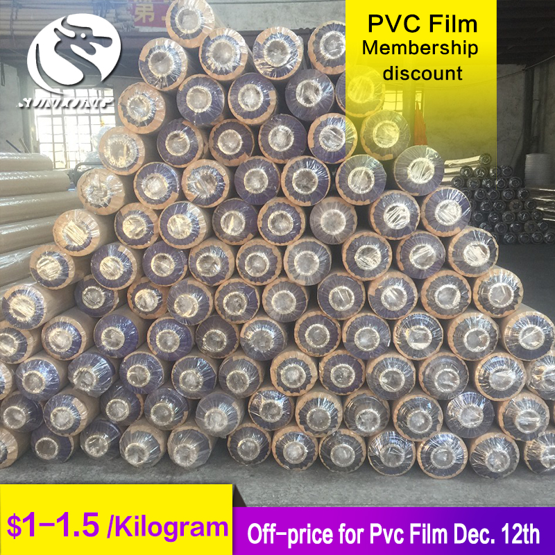 high clear china sexy blue shrink wrap film