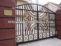 high quality beautiful iron gate for yard