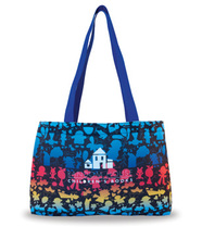 Made in the USA Work of Art tote bag. Constructed from white hE fabric. Comes with your full color print logo.
