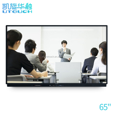 65 inch ops ir all in one multi touch screen whiteboard interactive smart board for education