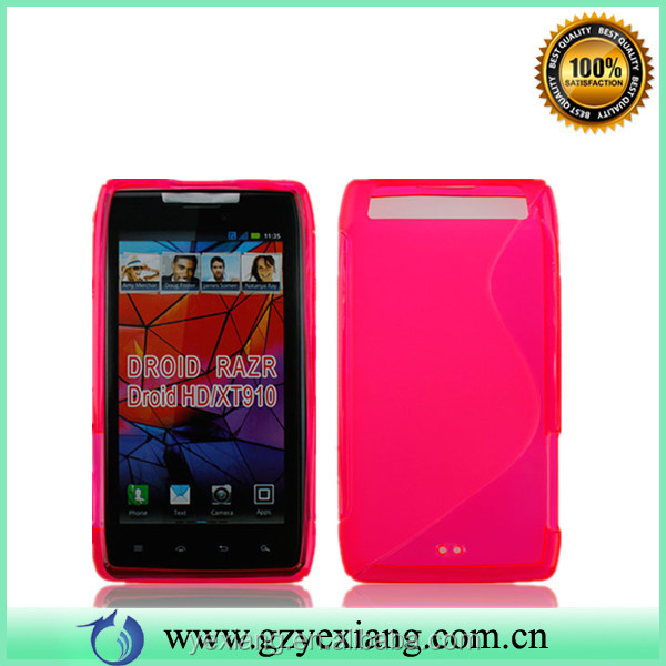 Factory Price TPU Mobile Phone Cover For Motorola Razr XT910 Gel Case