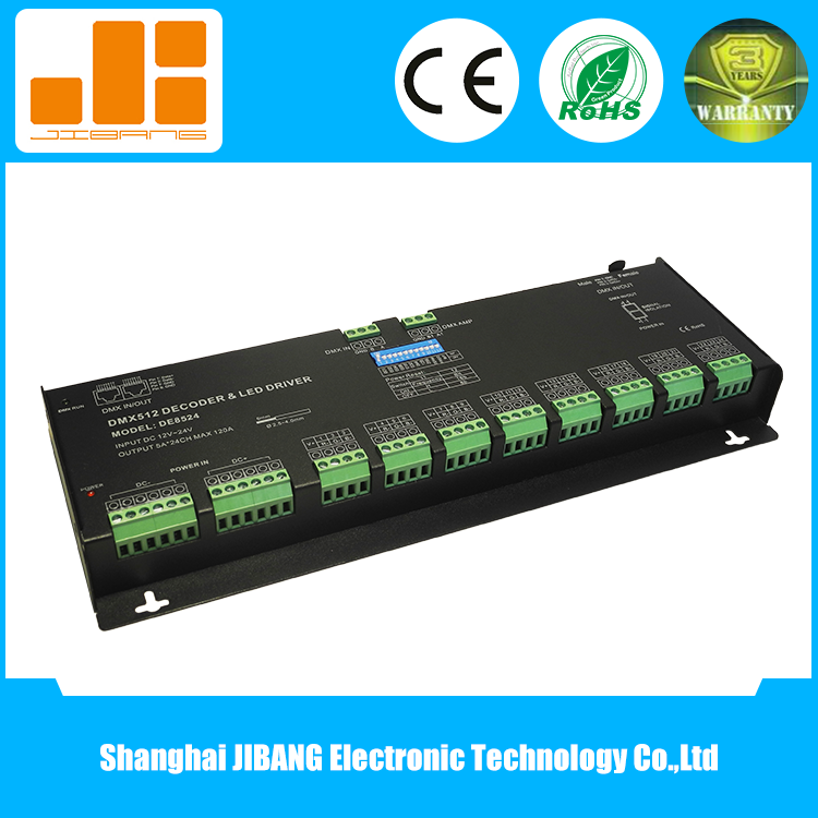 5A/CH Constant Voltage 24CH RGB DMX Driver for LED