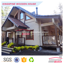 prefab log house export to Japan new style small wooden house KPL-057