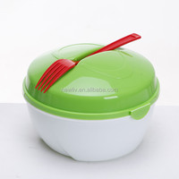 Plastic Multifunction Salad Bowl Set With lid ,Salad lunch box food container bowl set,Salad bowl