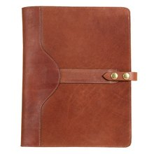 Brown PU Leather Portfolio Case for iPad Pro Tablet Pocket Business Writing