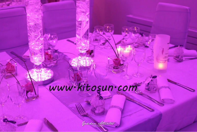 Polite Table decoration on/off switch multi-colors 6inch LED light