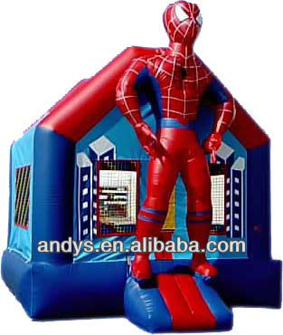 Inflatable Spiderman Castle Slide