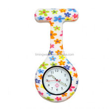 Fragmentary flower silicone waterproof nurse fob watch