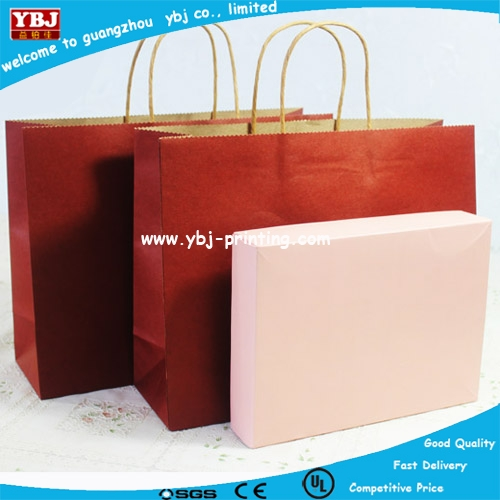 Top Quality Printed Paper Wine Bottle Packaging Carry Bag Wholesale