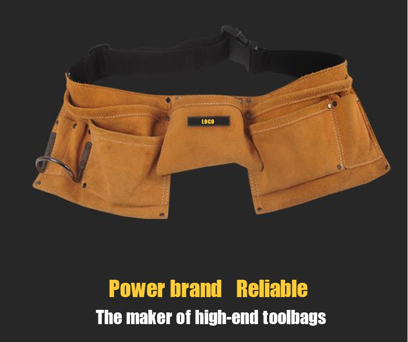 OEM electrician leather work small tool belt pouch