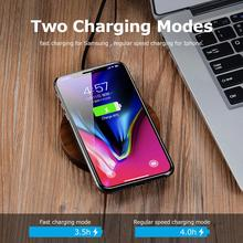Portable Slim Fast wireless charger, Mobile Phone Wood Qi Wireless Charger for iPhone X