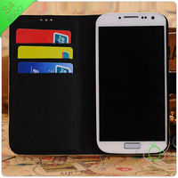 s4 leather flip case, book stand case for samsung galaxy S4