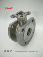 italy wafer type ball valve with ISO 5211 mountiing pad