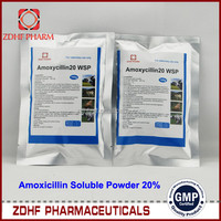 farming Poultry use antibiotic drug 20% Amoxicillin Colistin Sulfate soluble powder for chicken respiratory