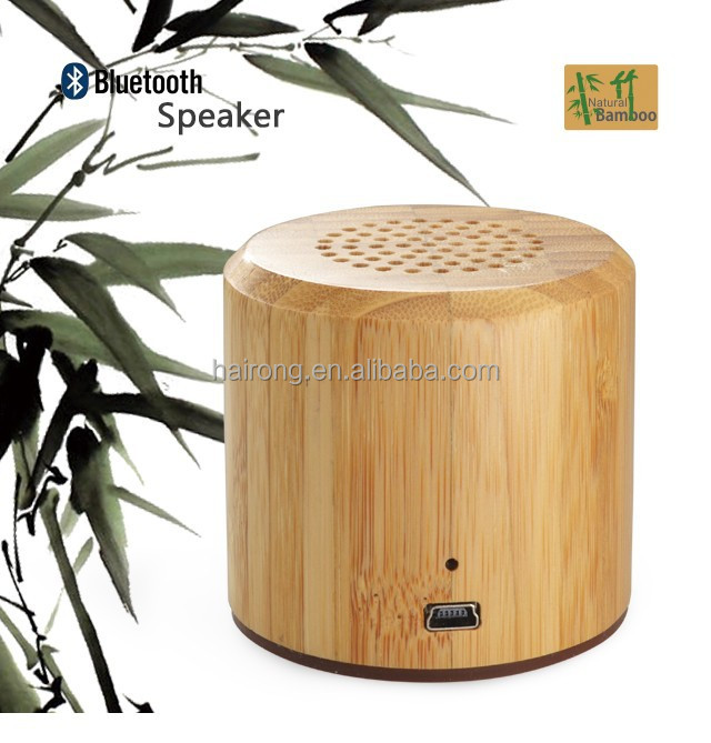 promotion 10pcs MOQ bamboo wooden portable <strong>bluetooth</strong> mini wireless speaker