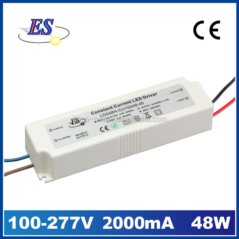 48W 2A 220V to 24V AC DC Constant Current LED Driver Power Supply