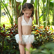 New Style Summer Kids Girl Elegant Swimwear Sets Lace Bikini Top And Ballet Tutu Dress For Wholesale Girls Swimsuits SR81216-37