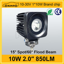 "High Quality 10-30v 2"" 10w 750LM led work light bar , led work light"