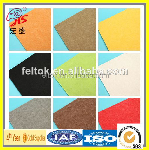 self adhesive fabric/color felt/polyester needle felt