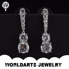 Diamond gemstone earrings jewelry for young women