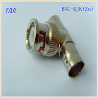 2 BNC Female to 1 BNC Male BNC-KJK T shape znic alloy connector